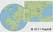 "Savanna Style Location Map of the area around 43°27'40""N,26°25'29""E"