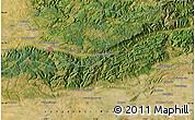 "Satellite Map of the area around 43°27'40""N,2°37'30""E"