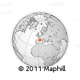 """Outline Map of the Area around 43° 27' 40"""" N, 2° 37' 30"""" E, rectangular outline"""