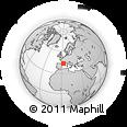 Outline Map of Mazamet, rectangular outline