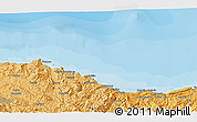 """Political 3D Map of the area around 43°27'40""""N,2°28'30""""W"""