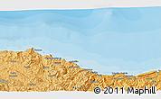 Political 3D Map of Zumaia
