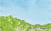"""Physical Map of the area around 43°27'40""""N,2°28'30""""W"""