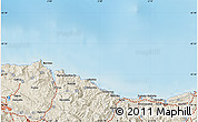 """Shaded Relief Map of the area around 43°27'40""""N,2°28'30""""W"""