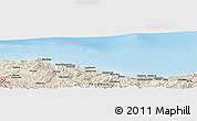 Shaded Relief Panoramic Map of Usúrbil