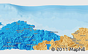 """Political 3D Map of the area around 43°27'40""""N,3°19'30""""W"""
