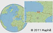 Savanna Style Location Map of Castro-Urdiales