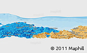 """Political Panoramic Map of the area around 43°27'40""""N,3°19'30""""W"""