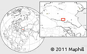 Blank Location Map of Nal'chik