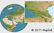 Satellite Location Map of Nal'chik