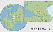 Savanna Style Location Map of Nal'chik