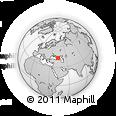 Outline Map of Nal'chik, rectangular outline