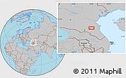 Gray Location Map of Groznyy