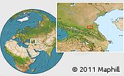 Satellite Location Map of Groznyy