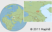 Savanna Style Location Map of Groznyy