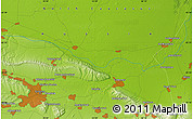 """Physical Map of the area around 43°27'40""""N,45°58'30""""E"""