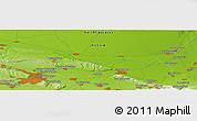 """Physical Panoramic Map of the area around 43°27'40""""N,45°58'30""""E"""