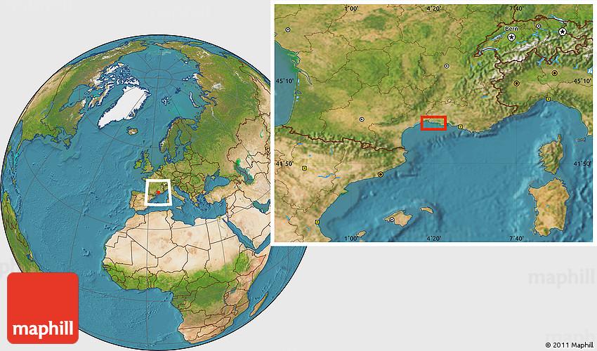 satellite location map of le grau du roi. Black Bedroom Furniture Sets. Home Design Ideas