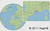 Savanna Style Location Map of Montpellier