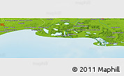 "Physical Panoramic Map of the area around 43° 27' 40"" N, 4° 19' 30"" E"