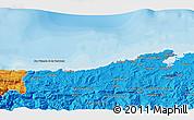 Political 3D Map of Santander