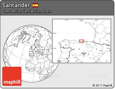 Blank Location Map of Santander