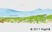 Physical Panoramic Map of Nueva Montaña