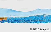 Political Panoramic Map of Santander