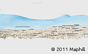 Shaded Relief Panoramic Map of Santander