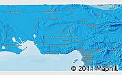 Political 3D Map of Marseille