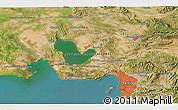 Satellite 3D Map of Marseille