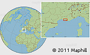 Savanna Style Location Map of Marseille