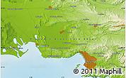 Physical Map of Saint-Barnabé