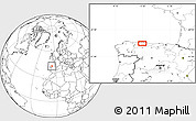 Blank Location Map of Mieres