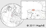 Blank Location Map of Oviedo