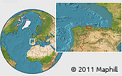 Satellite Location Map of Oviedo