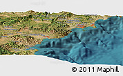 "Satellite Panoramic Map of the area around 43° 27' 40"" N, 6° 52' 30"" E"