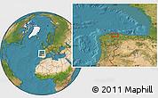 Satellite Location Map of Castrillón