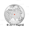 """Outline Map of the Area around 43° 27' 40"""" N, 74° 1' 30"""" E, rectangular outline"""