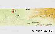 """Physical Panoramic Map of the area around 43°27'40""""N,74°1'30""""E"""