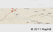 """Shaded Relief Panoramic Map of the area around 43°27'40""""N,74°1'30""""E"""