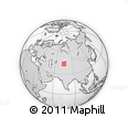 """Outline Map of the Area around 43° 27' 40"""" N, 74° 52' 30"""" E, rectangular outline"""