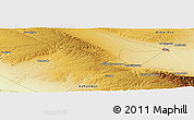 """Physical Panoramic Map of the area around 43°27'40""""N,74°52'30""""E"""