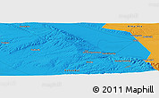 """Political Panoramic Map of the area around 43°27'40""""N,74°52'30""""E"""