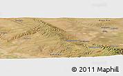 "Satellite Panoramic Map of the area around 43°27'40""N,74°52'30""E"