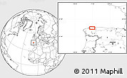 Blank Location Map of Trabada