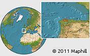 Satellite Location Map of Trabada