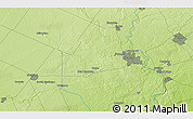 """Physical 3D Map of the area around 43°27'40""""N,80°40'30""""W"""