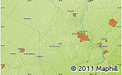 """Physical Map of the area around 43°27'40""""N,80°40'30""""W"""
