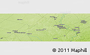 """Physical Panoramic Map of the area around 43°27'40""""N,80°40'30""""W"""